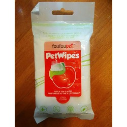 FouFou Pet Tea Scented Pet Cleaning Wipes