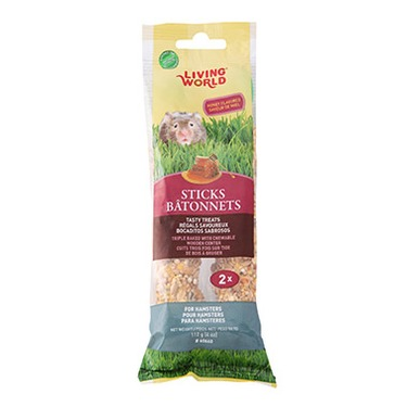 Living World Hamster Sticks Honey Flavour