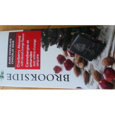 Brookside Chocolate Tablet Bar in Cranberry Almond with Blood Orange Flavour
