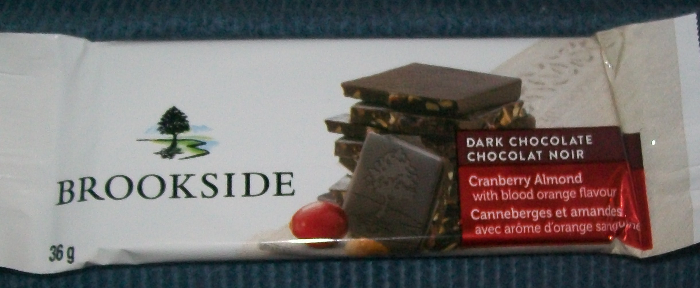 Brookside Chocolate Tablet Bar in Cranberry Almond with Blood ...