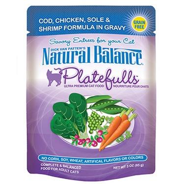 Natural Balance Platefulls Cod, Chicken, Sole & Shrimp Formula