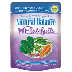 Natural Balance Platefulls Cod, Chicken, Sole & Shrimp Formula