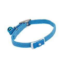 Coastal Pet Products Li'l Pals Nylon Adjustable Kitten Collar with Bow - Light Blue