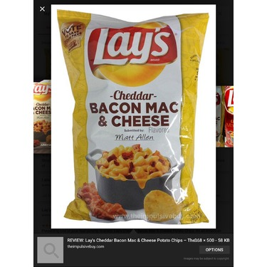 bacon Mac and cheese chips