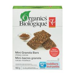 PC Organics Mini Granola Bars - chewy cocoa