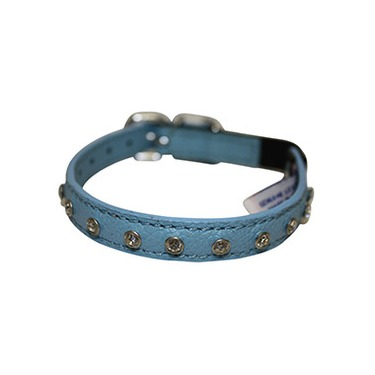 Angel Athens Cat Collar Leather with Rhinestones