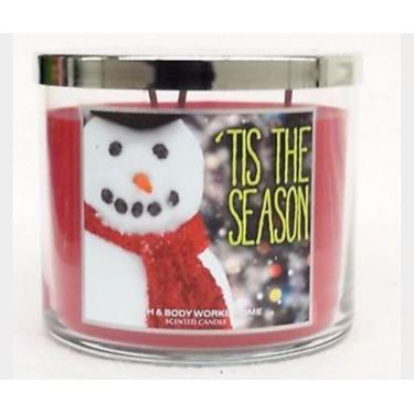 Bath & Body Works 3 Wick Candle - 'Tis The Season