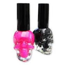 black heart skull polish