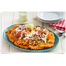 Pulled Pork Spicy Nachos with McCain Lattice Cut Fries Recipe
