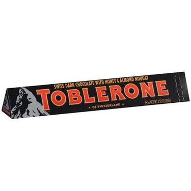 toblerone swiss dark chocolate with honey and almond nougat