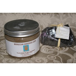Organic Clay Deep Pore Cleansing Hair & Face Mask Moroccan