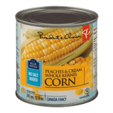Presidents Choice Blue Menu Peaches & Cream Corn