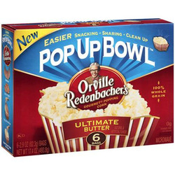 Orville Redenbacher's Ultimate Butter Microwave Popcorn, 6 ct