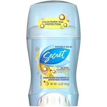 Secret Scent Expressions Clear Gel Cocoa Butter Kiss Antiperspirant
