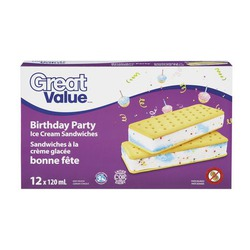 Great value birthday party ice cream sandwiches