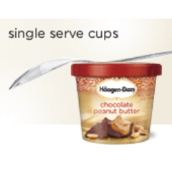 Hagen Daz single serve ice cream