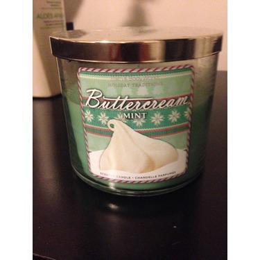 Bath & Body Works 3 Wick Candle Buttercream Mint