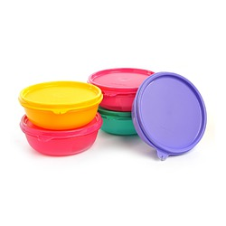 Tupperware small snack bowls and lids