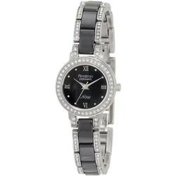 Armitron Women's Black Ceramic and Crystal Dress Watch