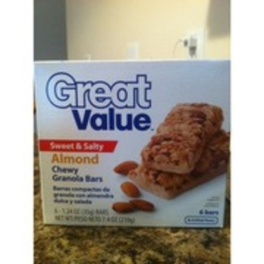 Great Value sweet and salty almond bars