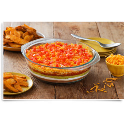 7 Layer Dip & McCain Spicy Wedges Recipe