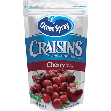 Ocean Spray Craisins Dried Cranberries, Cherry Juice Infused, 5-Ounce
