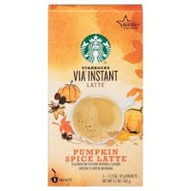 Starbucks via instant pumpkin spice latte