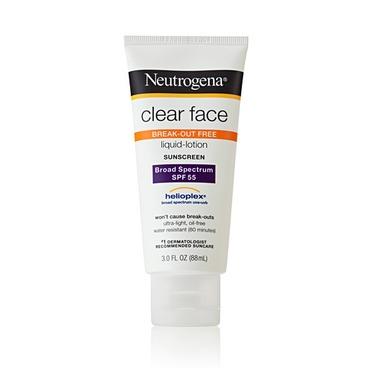 Neutrogena Clear Face Break-Out Free Liquid Lotion Sunscreen SPF 60