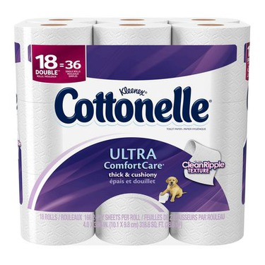 Cottonelle Ultra Comfort Care* Double Roll Toilet Paper, 18 Rolls