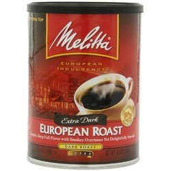 Melitta Coffee, European Roast Ground, Extra Dark Roast
