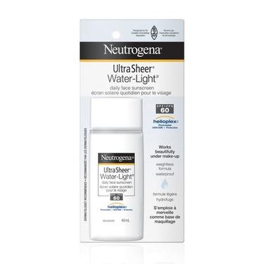 NEUTROGENA Ultra Sheer Water-Light Daily Face Sunscreen SPF 60, 40 mL