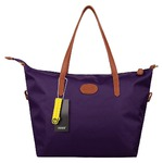 Ecosusi Waterproof Nylon Tote Bag Women's Handbag (Purple)