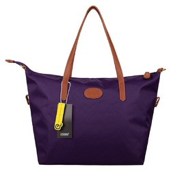 Ecosusi Waterproof Nylon Tote Bag Women's Handbag (Purple)