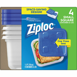 Ziploc Container Sm Square 4Ct
