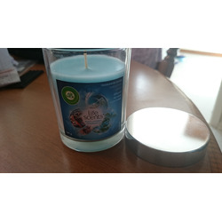 Air Wick Air Freshener Glass Candle; Life Scents Multi-Layered Fragrance, Turquoise Oasis; 141g