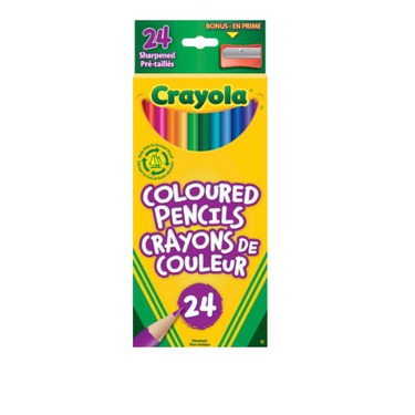 Crayola coloured pencils 24