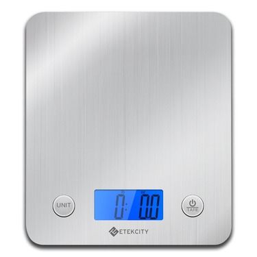 Etekcity 11lb 5kg Digital Kitchen Food Scale Stainless Steel Alarm Timer Temperature Sensor Reviews In Liances Advisor