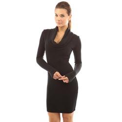PattyBoutik Women's Cowl Neck Long Sleeve Knit Dress