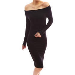 Patty Women's Off Shoulder Long Sleeve Fitted Dress