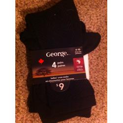 George Ladies Crew Socks