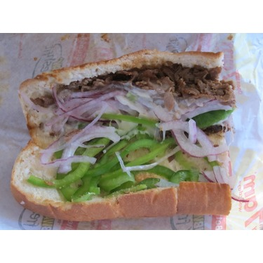SUBWAY STEAK AND CHEESE SANDWICH