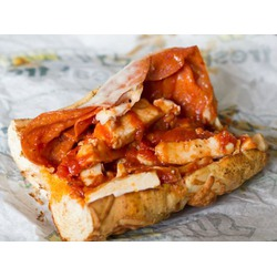 SUBWAY CHICKEN PIZZIOLA MELT SANDWICH
