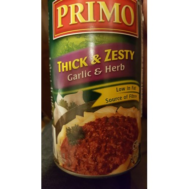 Primo Thick & Zesty Garlic & Herb Tomato Sauce