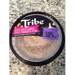 Tribe Hummus Zesty Spice & Garlic