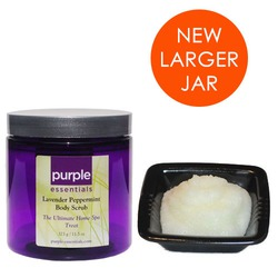 Purple Essentials Lavender Peppermint Body Scrub