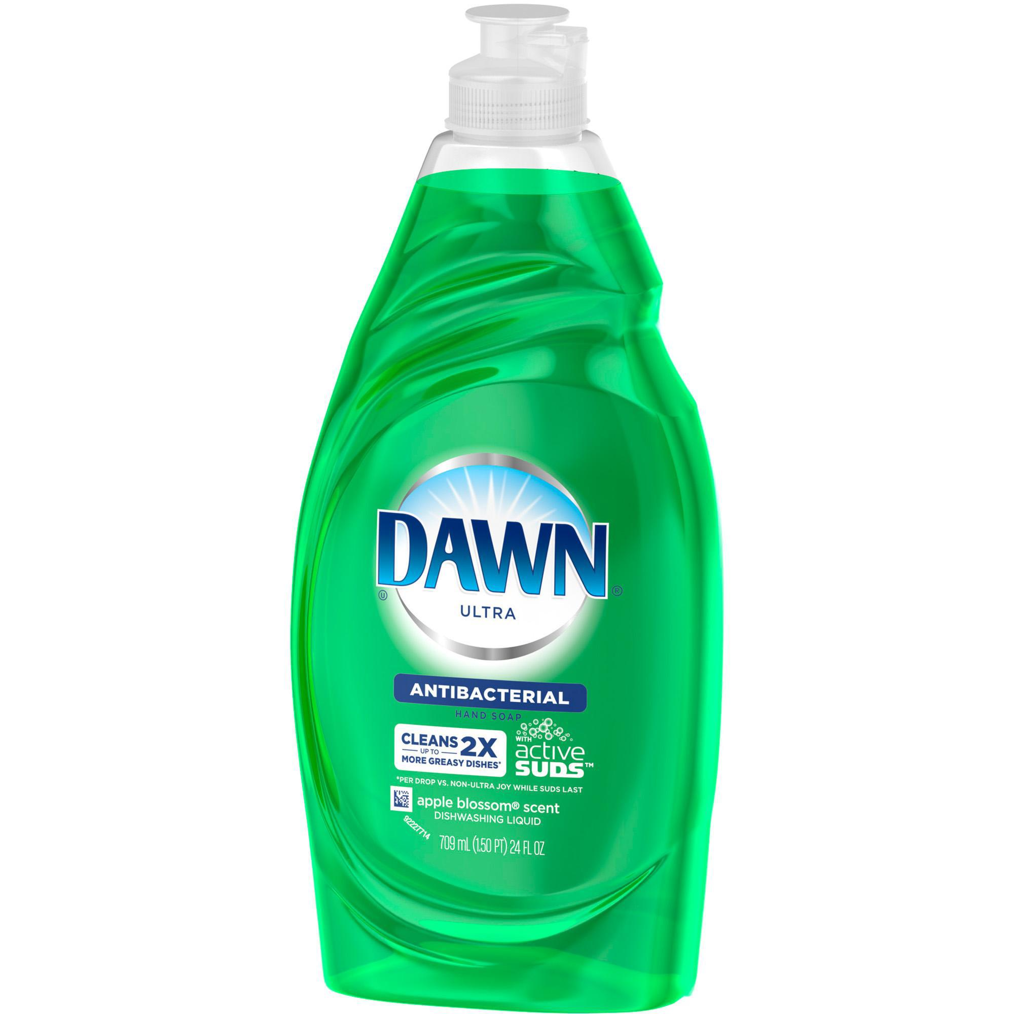 Dawn ultra antibacterial dishwashing liquid apple blossom for Cleaning products for kitchen