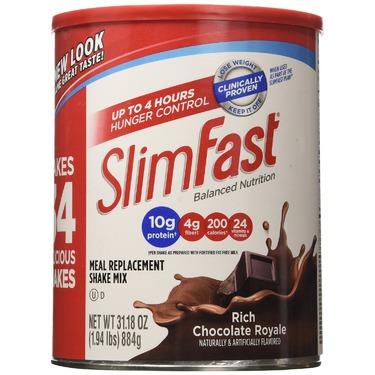 SlimFast Powder Shake Mix, Rich Chocolate Royale