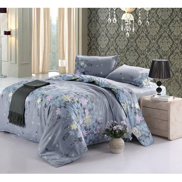 Cotton Blend Well Designed Printed Floral Pattern Duvet Cover Sets Full Queen Size