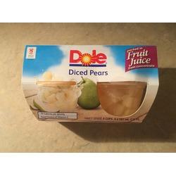 Dole diced pears
