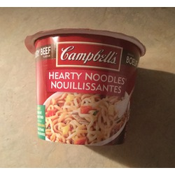 Campbell's hearty noodles beef